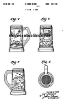 Click here to enlarge image and see more about item PAT0822AA1E: Patent Art: 1942 Metlox ROMANELLI PEARL HARBOR MUG