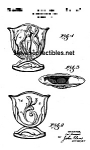 Click here to enlarge image and see more about item PAT0822AA2E: Patent Art: 1941 Metlox ROMANELLI NUDE VASE - matted