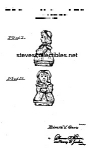 Click here to enlarge image and see more about item PAT0822BB7: Patent Art: 1940s SHAWNEE BO BEEP Shaker - Matted