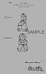 Click here to enlarge image and see more about item PAT0822BB7E: Patent Art: 1940s SHAWNEE BO BEEP Shaker - matted