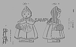 Click here to enlarge image and see more about item PAT0822CC5E: Patent Art:1940s Hull RED RIDING HOOD Cookie Jar Patent