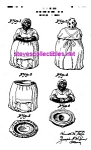 Click here to enlarge image and see more about item PAT0822CC9: Patent Art: 1940s BLACK MAMMY Cookie Jar - matted