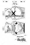 Click here to enlarge image and see more about item PAT0822DD3: Patent Art: 1940s SHAWNEE SMILEY COOKIE JAR - Matted