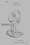 Click here to enlarge image and see more about item PAT0823AA6E: Patent Art: 1920s COWAN POTTERY Nude FLOWER FROG