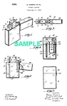 Click here to enlarge image and see more about item PAT0824AA1E: 1930s ZIPPO LIGHTER Patent-Matted