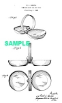 Click here to enlarge image and see more about item PAT0824BB5E: Patent Art: 1930s Art Deco CHASE Gerth MINT/NUT DISH