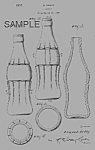 Click here to enlarge image and see more about item PAT0824DD6E: Patent Art: 1930s COCA COLA BOTTLE Design - matted