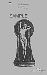 Click here to enlarge image and see more about item PAT0824DD7E: Patent Art: 1920s Art Deco NUDE FEMALE BOOKEND