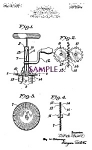 Click here to enlarge image and see more about item PAT0827A4-2006: Patent Art: 1920s Kitchen EGG BEATER