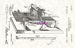 Click here to enlarge image and see more about item PAT0827A6-2006: Patent Art: 1890s OLIVER TYPEWRITER - matted