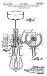 Click here to enlarge image and see more about item PAT0827A7-2006: Patent Art: 1930s Kitchen EGG BEATER