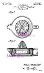 Patent Art: 1920s Glass Sunkist JUICER REAMER