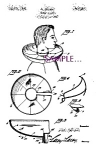 Patent Art: 1940s Barber shop APRON- matted