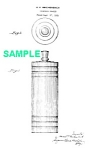 Click here to enlarge image and see more about item PAT0831AA1E: Patent Art: 1930s CHASE Gaiety COCKTAIL SHAKER - Matted