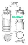 Click here to enlarge image and see more about item PAT0831AA2E: Patent Art: 1930s CHASE Gaiety COCKTAIL SHAKER - Matted