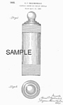 Click here to enlarge image and see more about item PAT0831AA3: Patent Art: 1930s CHASE Blue Moon COCKTAIL SHAKER