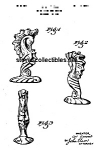 Click here to enlarge image and see more about item PAT0901AA1: Patent Art: 1941 Metlox ROMANELLI SEAHORSE Vase