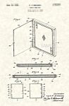 Click here to enlarge image and see more about item PAT0901AA3E: Patent Art: 1930s CARL BREMA Magic Card Box - matted