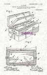 Click here to enlarge image and see more about item PAT0901AA7E: Patent Art: 1900s  HORACE GOLDIN Nesting Trunks