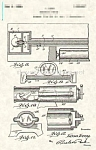 Click here to enlarge image and see more about item PAT0901BB5E: Patent Art: 1920s GREAT LEON Human Cannon Magic
