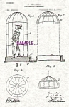 Click here to enlarge image and see more about item PAT0901BB8E: Patent Art:1890s Buatier de Kolta  MAGIC BIRDCAGE
