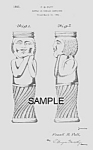 Click here to enlarge image and see more about item PAT0913AA1: Patent Art: 1930s DECO LADY Candy Container - Matted