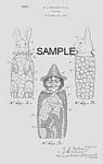 Click here to enlarge image and see more about item PAT0913AA9E: Patent Art: 1930s HOLIDAY Candy Containers - Matted