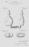 Click here to enlarge image and see more about item PAT0913BB3E: Patent Art: 1940s NURSER Candy Container - Matted Print