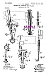 Click here to enlarge image and see more about item PAT0916B2-2006: Patent Art: Early 1900s Kampfe RAZOR STROP  B - matted