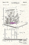 Click here to enlarge image and see more about item PAT0918A2-2006DUG: Patent Art: 1950s  Santa Claus POP-UP BOOK - matted