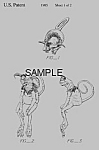 Click here to enlarge image and see more about item PAT0921AA2: Patent: 1980s STAR WARS Salacious Crumb Toy Toys