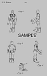 Click here to enlarge image and see more about item PAT0921AA3: Patent: 80s STAR WARS Bossk Toy Action Figure