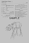 Click here to enlarge image and see more about item PAT0921AA4: Patent: 1980s STAR WARS AT-AT Walker Toy