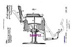 Click to view larger image of 1911 BARBER CHAIR - Artwork - matted for framing (Image1)