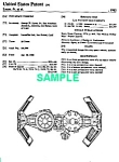 Click here to enlarge image and see more about item PAT1001AA1: Patent: 80s STAR WARS Tie Bomber Toy Vehicle