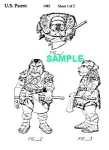 Click here to enlarge image and see more about item PAT1001AA7E: Patent: 1980s STAR WARS Gamorrean Guard Toy