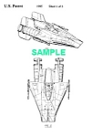 Click here to enlarge image and see more about item PAT1002AA2E: Patent:1980s STAR WARS A-Wing Starfighter Toy