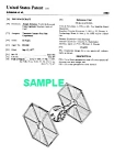Click here to enlarge image and see more about item PAT1002AA5: Patent Art: 1980s STAR WARS Tie Fighter Toy