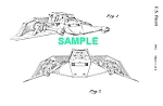 Click here to enlarge image and see more about item PAT1002BB3: Patent: 1980s STAR WARS Snowspeeder Toy