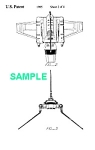 Click here to enlarge image and see more about item PAT1002BB4E: Patent: 1980s STAR WARS Imperial Shuttle Toy