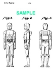 Click here to enlarge image and see more about item PAT1002BB6: Patent Art: 1970s STAR WARS C3PO Robot Toy - matted
