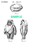 Click here to enlarge image and see more about item PAT1002BB9E: Patent: 1980s STAR WARS Wicket-Ewok Toy