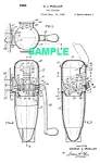 Click here to enlarge image and see more about item PAT1004AA1E: Patent Art: 1940s Art Deco ROCKET ICE CRUSHER