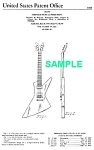 Click here to enlarge image and see more about item PAT1004BB1E: Patent Art: 1958 Explorer GIBSON Guitar - matted
