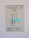 Click here to enlarge image and see more about item PAT1005AA1E: Patent Art: 1959 FENDER JAZZMASTER Guitar - matted