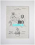 Click here to enlarge image and see more about item PAT1005CC5E: Patent Art: 1860s Thomas Edison TICKER TAPE - matted