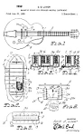 Click here to enlarge image and see more about item PAT1005CC6E: Patent Art: 1959 Humbucker Pickup GIBSON Guitar