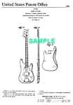 Click here to enlarge image and see more about item PAT1005CC7E: Patent Art: 1960 FENDER PRECISION BASS Guitar - matted