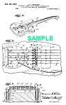 Click here to enlarge image and see more about item PAT1005CC8E: Patent Art: 1961 FENDER Guitar Floating Tremelo