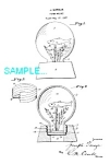Click here to enlarge image and see more about item PAT1009A1: Patent Art: 1920s GARAJA WATER GLOBE-matted